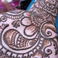 Henna (mehndi) hand