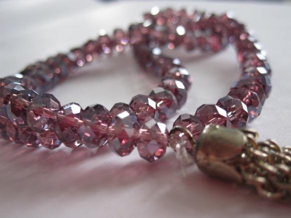 Pink gem prayer beads (tasbeeh)
