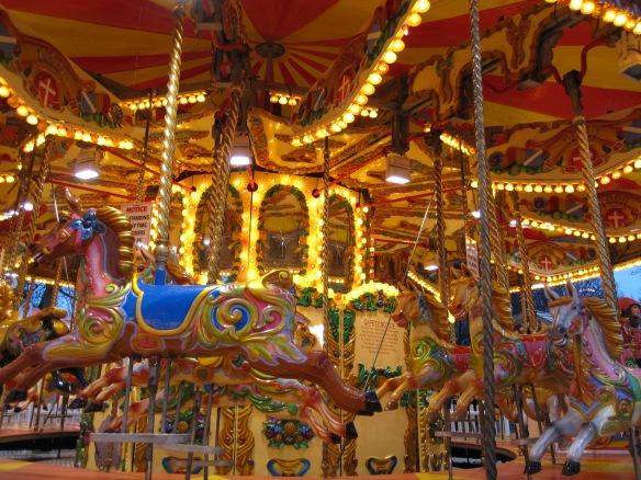 Colourful merry go round