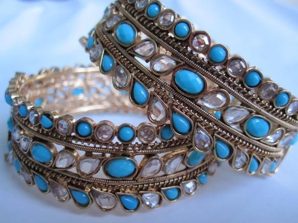 blue and white bangle
