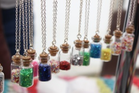 Tiny bottle necklaces