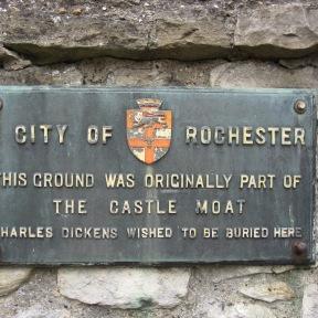 Rochester Castle plaque