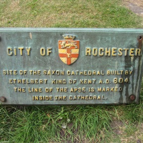 Rochester Cathedral Plaque