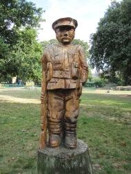 Man wood statue