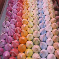 Colourful meringues