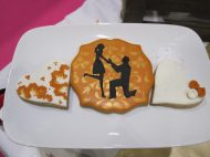Romantic silhouette biscuit
