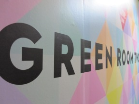 Green room sign