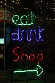 Eat drink shop lights
