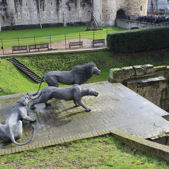 Lions outside Tower of London