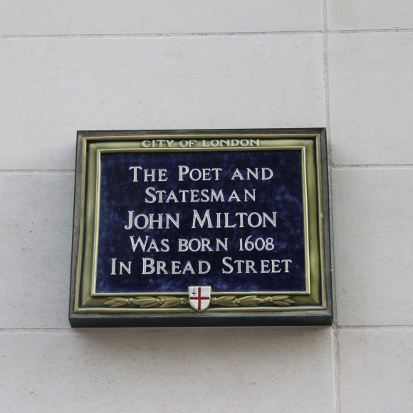 John Milton plaque