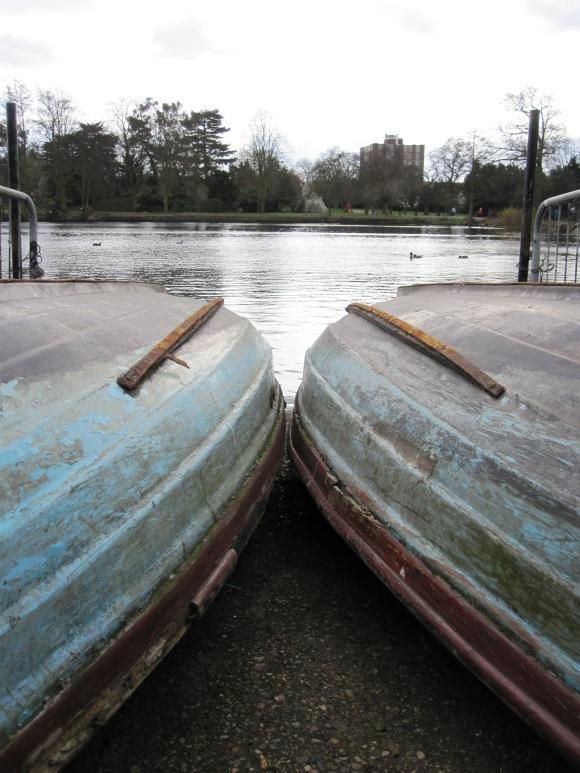 Up turned row boats