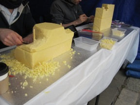 Cheese carving competition -Inchedible Hulk