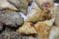 Samosas and kebabs