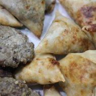 Samosas and kebabs