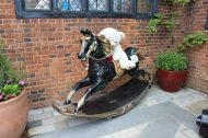 Rocking horse and teddy