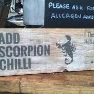 Scorpion chilli sign