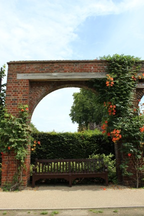 Archway and bench
