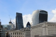 Leadenhall Building, 30 St Mary Axe, 20 Fenchurch Street aka Cheesgrater, Gherkin, Walkie Talkie Tower