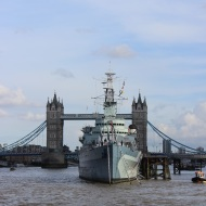 Tower Bridge and HMS Belfast museum ship