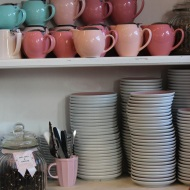 Teapots and plates