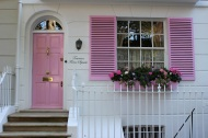Pink and white house