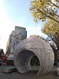 Giant bauble, Tottenham Court Road
