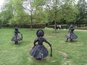 Dancing Clog Girls I-III by Laura Ford