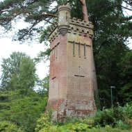 Gothic style Victorian water tower