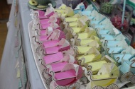 Baby carriage favour boxes