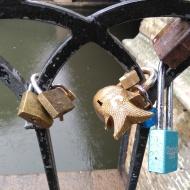 Locks on gate