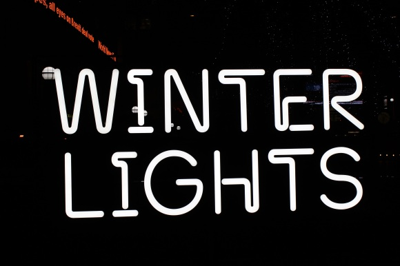 Winter Lights sign