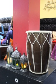 Dholki and lanterns