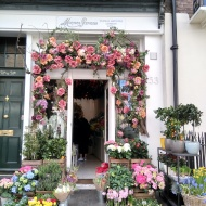 Florist with flower display