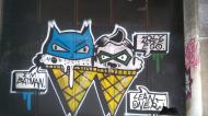 Batman and Robin street art