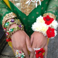 Bride's tradional outfit and jewellery