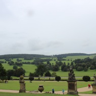 Chatsworth House grounds and statues
