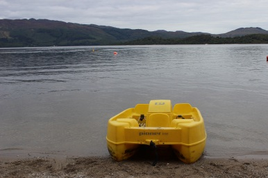 Peddle boat on Loch Lomond