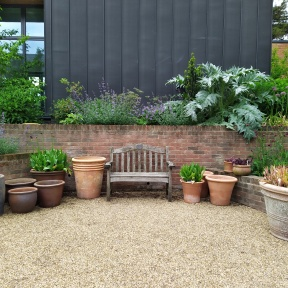 Bench and pots